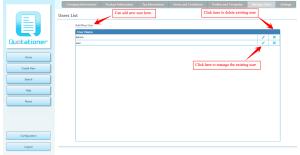 Manage User Accounts - Quotationer